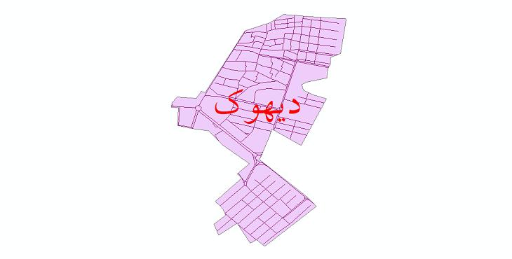 دانلود نقشه شیپ فایل شبکه معابر شهر دیهوک سال 1399