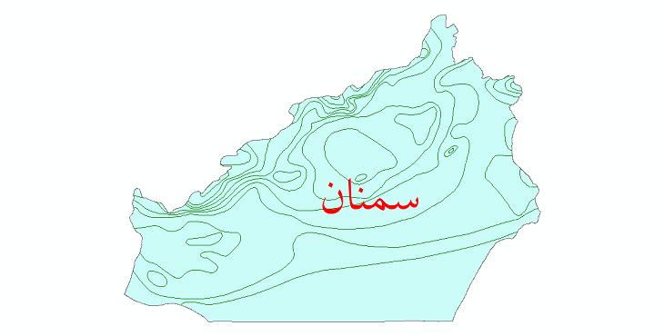 دانلود نقشه شیپ فایل خطوط هم دما استان سمنان