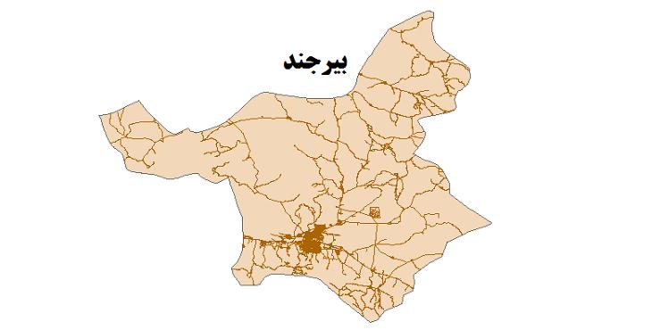 شیپ فایل شبکه راههای شهرستان بیرجند 1399