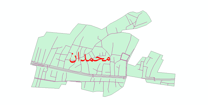 دانلود نقشه شیپ فایل شبکه معابر شهر محمدان سال 1399