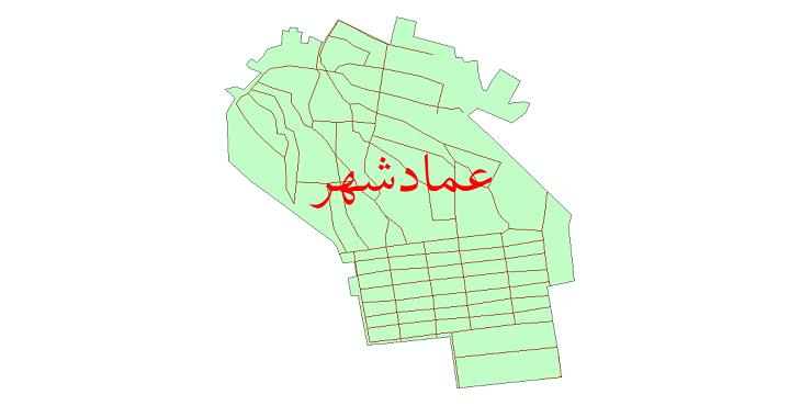 دانلود نقشه شیپ فایل شبکه معابر شهر عمادشهر سال 1399