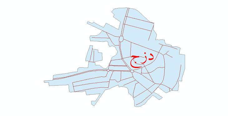 دانلود نقشه شیپ فایل شبکه معابر شهر دزج سال 1399
