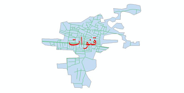 دانلود نقشه شیپ فایل شبکه معابر شهر قنوات سال 1399
