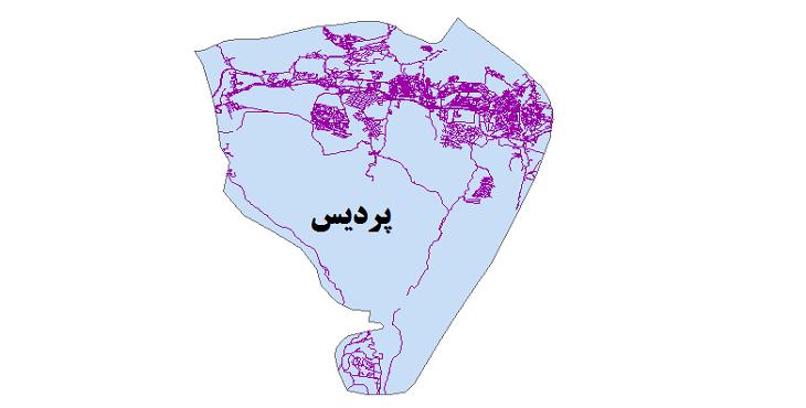 شیپ فایل شبکه راههای شهرستان پردیس 1399