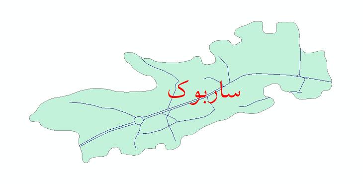 دانلود نقشه شیپ فایل شبکه معابر شهر ساربوک سال 1399