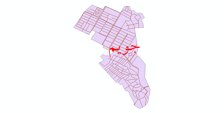دانلود نقشه شیپ فایل شبکه معابر شهر جویم سال 1399