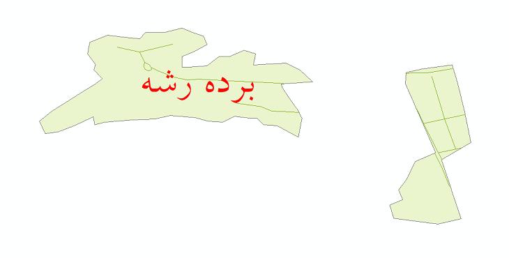 دانلود نقشه شیپ فایل شبکه معابر شهر برده رشه سال 1399