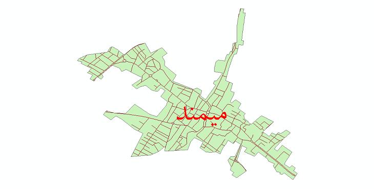 دانلود نقشه شیپ فایل شبکه معابر شهر میمند سال 1399