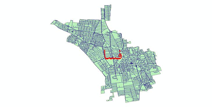 دانلود نقشه شیپ فایل شبکه معابر شهر فسا سال 1399