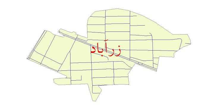 دانلود نقشه شیپ فایل شبکه معابر شهر زرآباد سال 1399