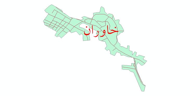 دانلود نقشه شیپ فایل شبکه معابر شهر خاوران سال 1399