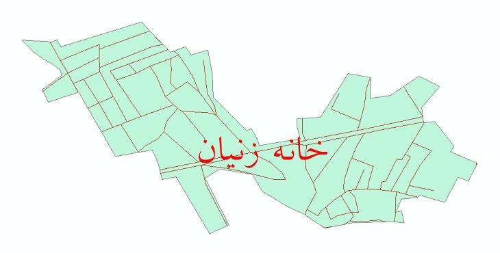 دانلود نقشه شیپ فایل شبکه معابر شهر خانه زنیان سال 1399