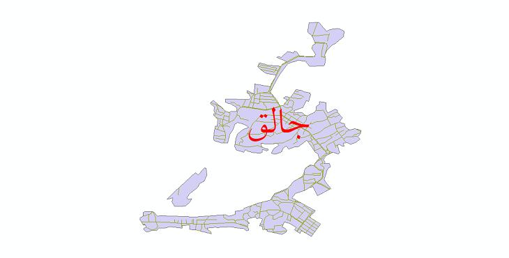 دانلود نقشه شیپ فایل شبکه معابر شهر جالق سال 1399