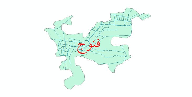 دانلود نقشه شیپ فایل شبکه معابر شهر فنوج سال 1399