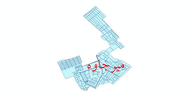 دانلود نقشه شیپ فایل شبکه معابر شهر میرجاوه سال 1399