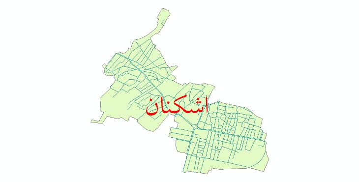 دانلود نقشه شیپ فایل شبکه معابر شهر اشکنان سال 1399