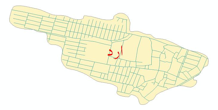 دانلود نقشه شیپ فایل شبکه معابر شهر ارد سال 1399