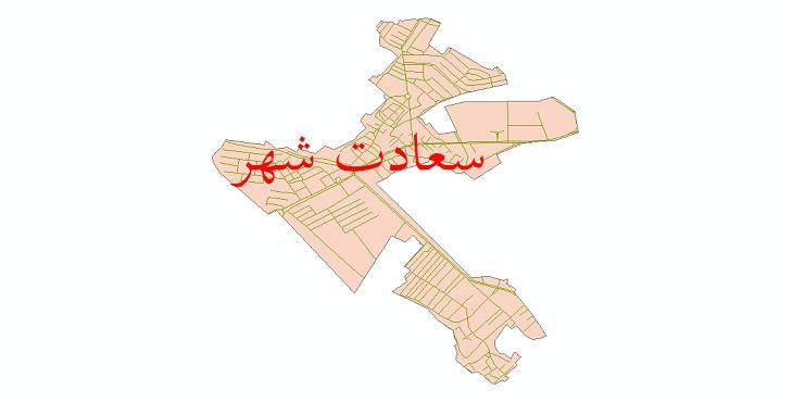 دانلود نقشه شیپ فایل شبکه معابر شهر سعادت شهر سال 1399