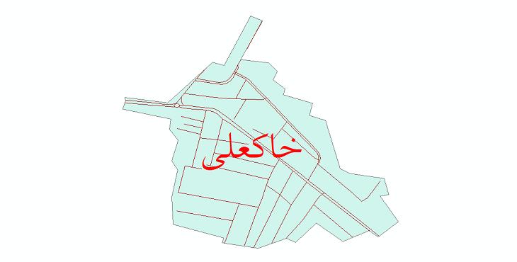 دانلود نقشه شیپ فایل شبکه معابر شهر خاکعلی سال 1399
