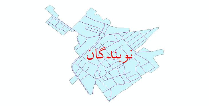 دانلود نقشه شیپ فایل شبکه معابر شهر نوبندگان سال 1399
