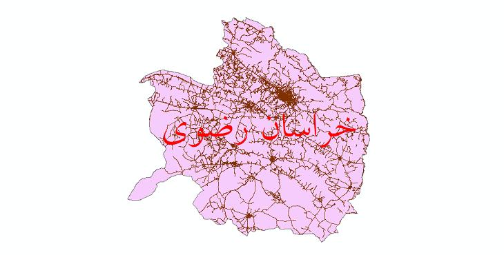 دانلود نقشه شیپ فایل شبکه راه های استان خراسان رضوی سال 1399