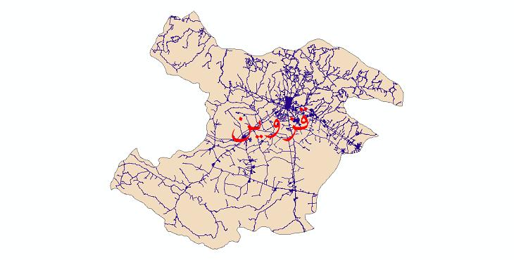 دانلود نقشه شیپ فایل شبکه راه های استان قزوین سال 1399