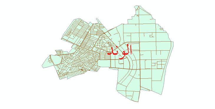 دانلود نقشه شیپ فایل شبکه معابر شهر الوند سال 1399