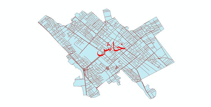 دانلود نقشه شیپ فایل شبکه معابر شهر خاش سال 1399