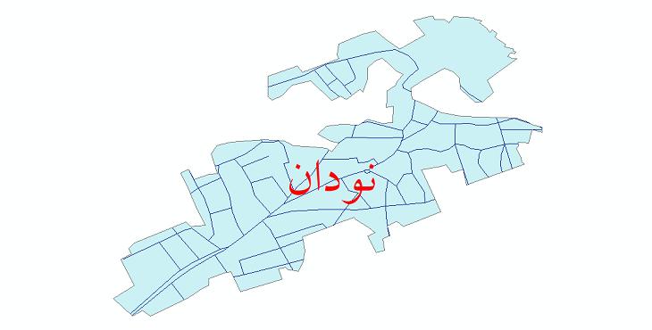 دانلود نقشه شیپ فایل شبکه معابر شهر نودان سال 1399
