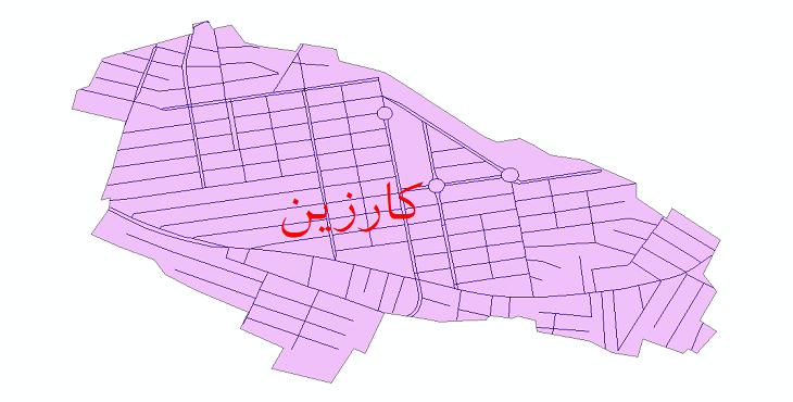 دانلود نقشه شیپ فایل شبکه معابر شهر کارزین سال 1399