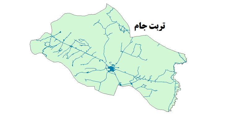 شیپ فایل شبکه راههای شهرستان تربت جام 1399