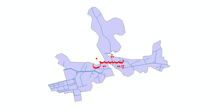 دانلود نقشه شیپ فایل شبکه معابر شهر پیشین سال 1399