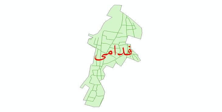 دانلود نقشه شیپ فایل شبکه معابر شهر فدامی سال 1399