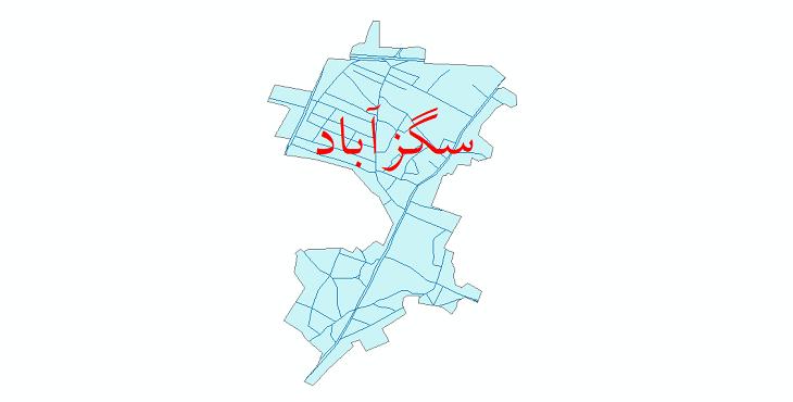 دانلود نقشه شیپ فایل شبکه معابر شهر سگزآباد سال 1399