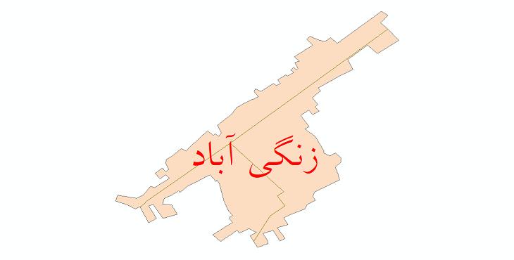 دانلود نقشه شیپ فایل شبکه معابر شهر زنگی آباد سال 1399