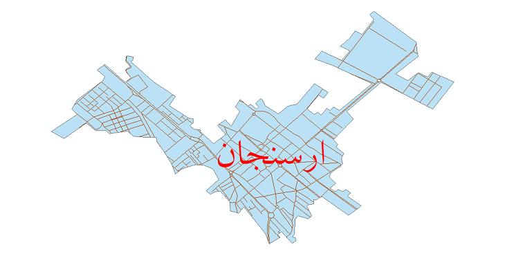 دانلود نقشه شیپ فایل شبکه معابر شهر ارسنجان سال 1399