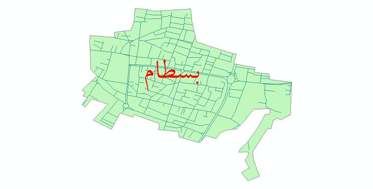 دانلود نقشه شیپ فایل شبکه معابر شهر بسطام سال 1399