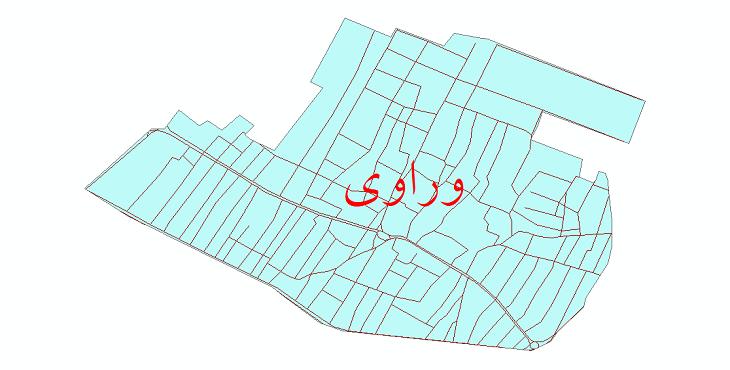 دانلود نقشه شیپ فایل شبکه معابر شهر وراوی سال 1399