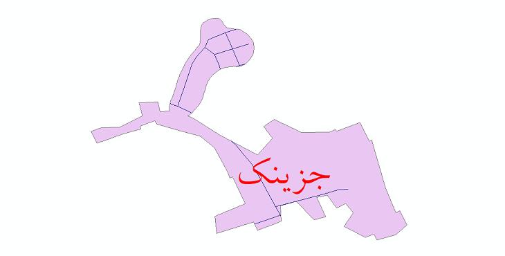 دانلود نقشه شیپ فایل شبکه معابر شهر جزینک سال 1399