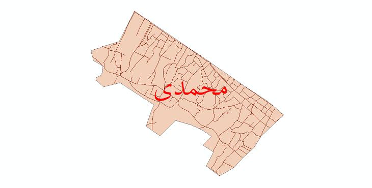 دانلود نقشه شیپ فایل شبکه معابر شهر محمدی سال 1399