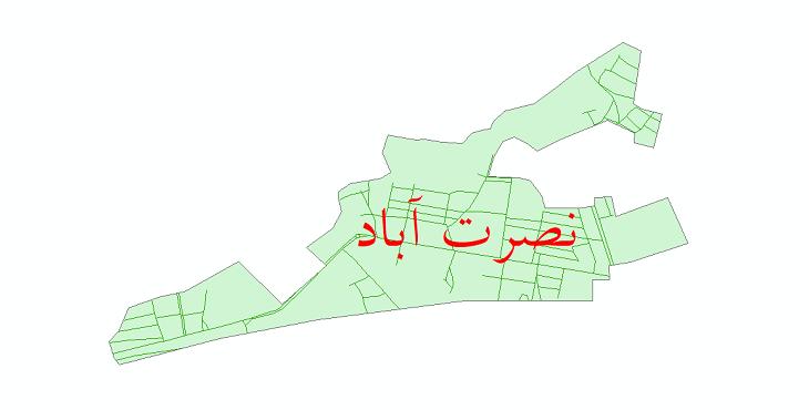 دانلود نقشه شیپ فایل شبکه معابر شهر نصرت آباد سال 1399