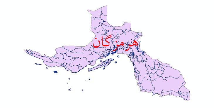دانلود نقشه شیپ فایل شبکه راه های استان هرمزگان سال 1399