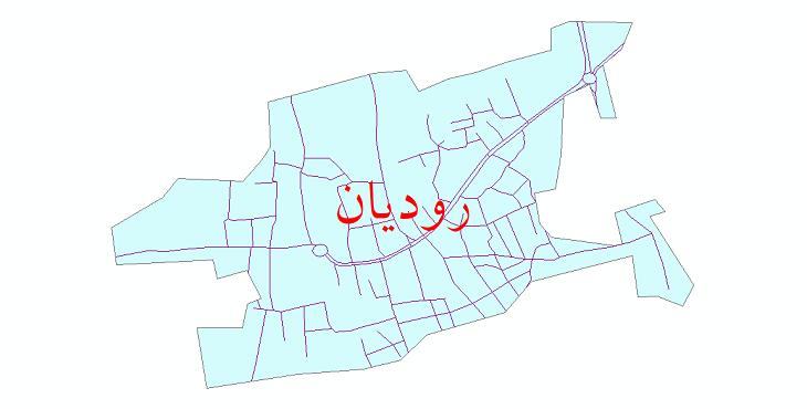 دانلود نقشه شیپ فایل شبکه معابر شهر رودیان سال 1399