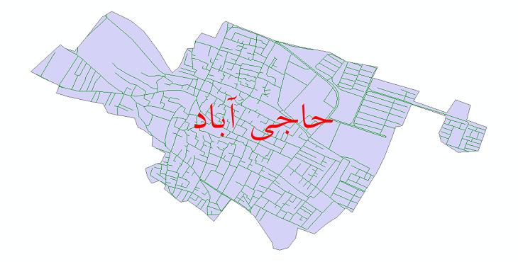 دانلود نقشه شیپ فایل شبکه معابر شهر حاجی آباد سال 1399