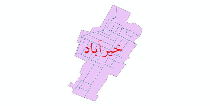 دانلود نقشه شیپ فایل شبکه معابر شهر خیرآباد سال 1399