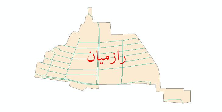 دانلود نقشه شیپ فایل شبکه معابر شهر رازمیان سال 1399