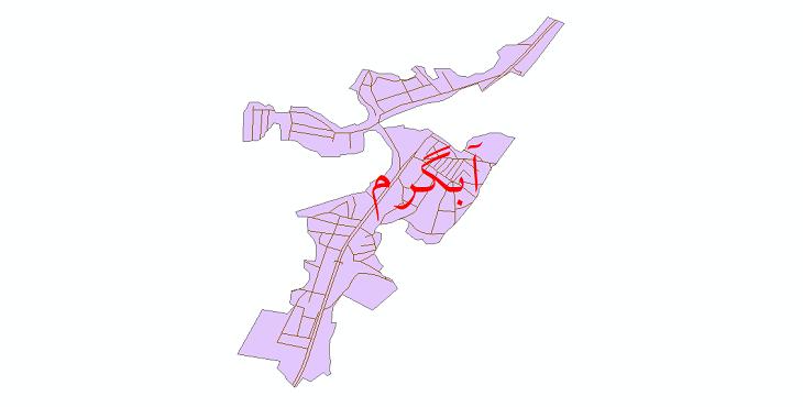 دانلود نقشه شیپ فایل شبکه معابر شهر آبگرم سال 1399