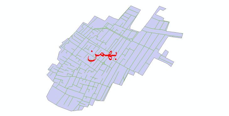 دانلود نقشه شیپ فایل شبکه معابر شهر بهمن سال 1399