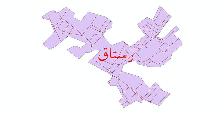 دانلود نقشه شیپ فایل شبکه معابر شهر رستاق سال 1399