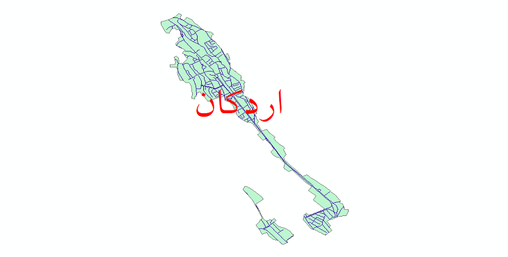 دانلود نقشه شیپ فایل شبکه معابر شهر اردکان سال 1399